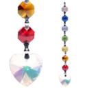 Feng Shui Prismor i Chakra färg - Hjärta Aurora Färg