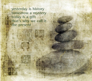 "Dubbla vykort - ""Yesterday is history...."""