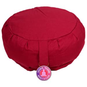 Meditationskudde -  Röd - Pleated