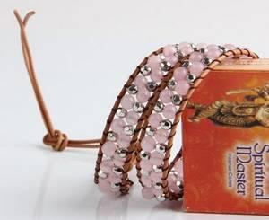 Wraparmband - Rosenkvarts