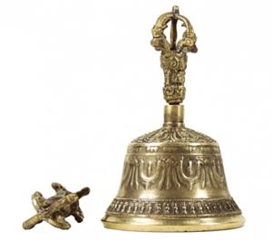 Tibetanska Klocka med Dorje - 17cm