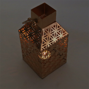 Atmospheric lighting 'Flower of life' - antique style golden metal