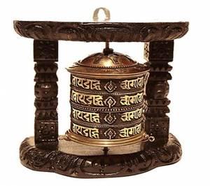 Bön hjul tibetanska- Om Mani Pad Me Hum - BIG