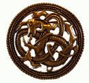 Brosch i brons  - Horses