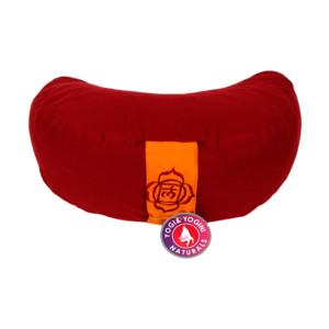 Meditationskudde - halvmåne  - Röd / Muladhara