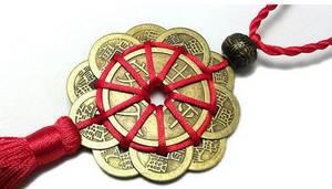 Kinesiskt lyckomynt - Feng Shui Beskydd Mandala