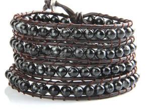 Obsidian WrapArmband  - Fyra Varv
