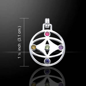 Nutid Livets blomma Halsband -  Peter Stone Design  - Öga