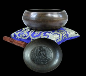 Singing Bowl Tara - decorated and carved