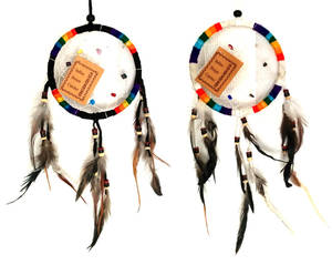 Regnbågsfärgad drömfångar - 11cm