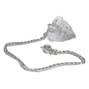 Shree Yantra Pendel med kedja - Bergkristall