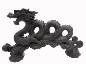 Feng Shui Vattendrake  - Svart/ Grå (Styrka)  - Stor