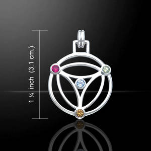 Nutid Livets blomma Halsband -  Peter Stone Design - Tri
