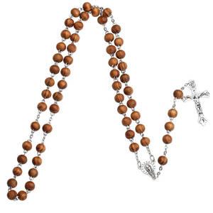 Kristna Radband i Ljus Trä med Maria