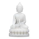 Mediterande Vit Buddha med Dorje i hand