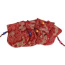 Röd Nepalesisk Påse med drag snöre