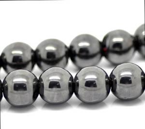 Hematit Halsband - 6mm Pärlor