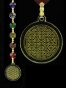 Feng Shui Prismor i Chakra färg - Livetsblomma - Guld