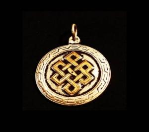 Tibetansk Evighetsknut Halsband