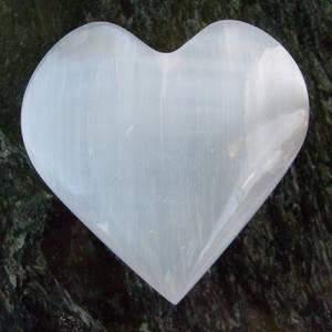 Selenit Hjärtan - 40mm