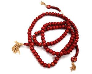 Tibetanska Radband - röda pärlor