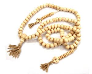 Tibetanska Radband - Vita pärlor