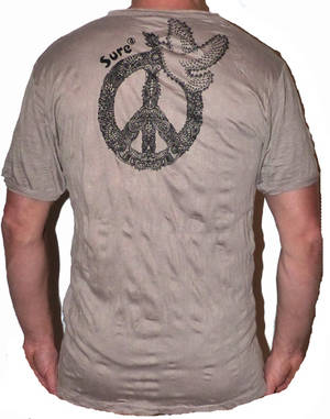 SURE T-shirt - Peace Dove - Brun