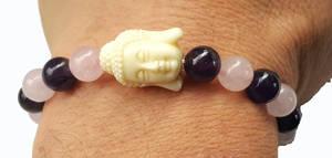 Buddha Armband -Vithuvud