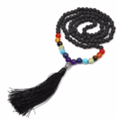 Chakra Mala Halsband med Toffs  - Lavasten