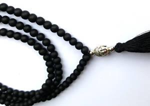 Mala Halsband med Toffs - Svart Agat