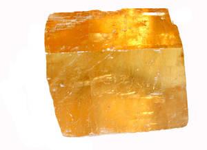 Gul Optisk Kalcit - Kub Form - AA kvalitet