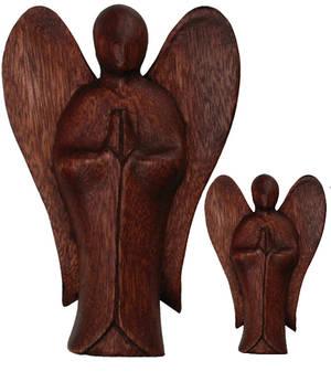 Balinese Trästaty Ängel