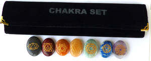 Chakra symboler i Sten - Cabachonform