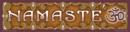 Klistermärke - Namaste