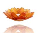 Lotuslyktan i snäckskal - Guldmetall - Orange -  Chakra 2