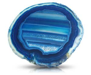 Agatskivor - Blå - ca. 15cm