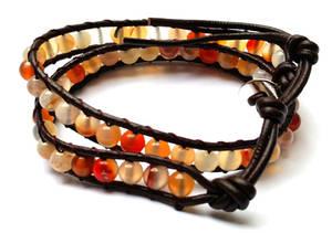 Wraparmband - Karneol