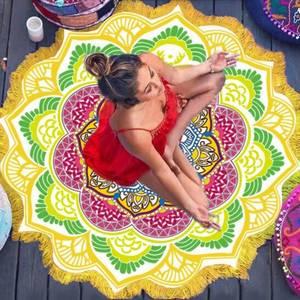 Mandala Näckrosen Chakra Matta / Duk - Sun Yellow