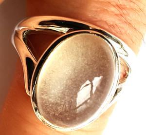 Vit Månsten Ringar i Silver