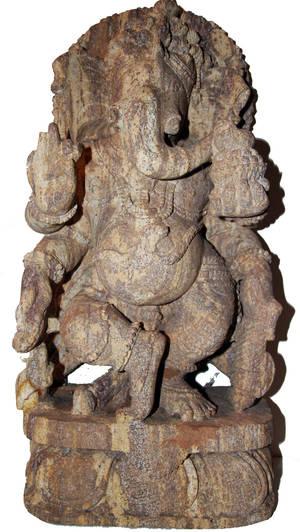 Ganesha Staty av Sand Sten