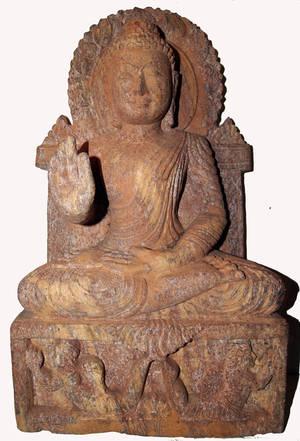 Buddha Staty av Sand Sten