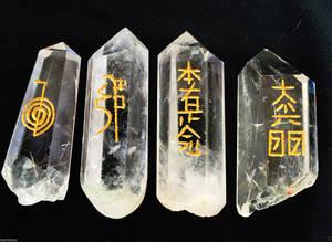 Reiki Kristall / Bergkristall Spetsar - Set