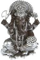 Ganesha Staty  Svart/Silver - 16cm