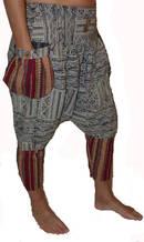 Haremsbyxor - Tribal Strips med Fickor