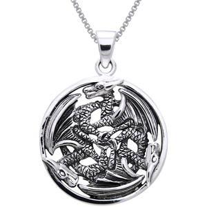 Drake cirkel Hänge i  Silver