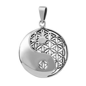 Blommanät / Yin Yang i Silver - Liten