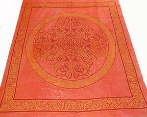 Keltiskt Batik Sängöverkast / Väggbonad - Orang Mandala