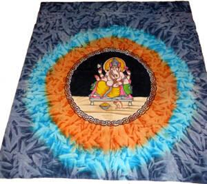 Handmålade Batik Väggbonad - Ganesha