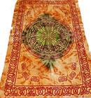 Keltiskt Batik Sängöverkast / Väggbonad - Grön Mandala