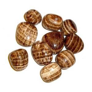 Aragonit (brun)- Trumlad